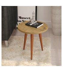 mesa lateral redonda patrimar móveis legs 44cm