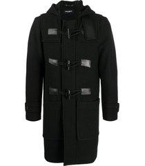 dolce & gabbana wool duffle coat - black