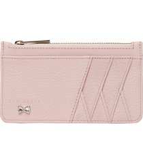 women's ted baker london gerii leather card case - pink