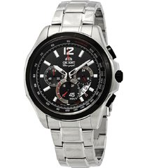 reloj orient fsy00001b cronografo 100% original-negro
