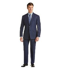 1905 collection tailored fit mini woven check men's suit with brrr°® comfort - big & tall by jos. a. bank