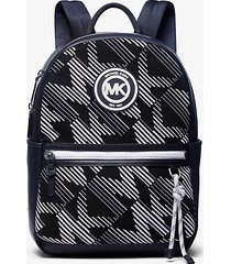mk zaino brooklyn con logo - midnight/wht - michael kors