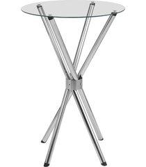 mesa redonda fil drink, cromado, 60 cm