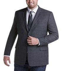 pronto uomo platinum executive fit sport coat gray plaid