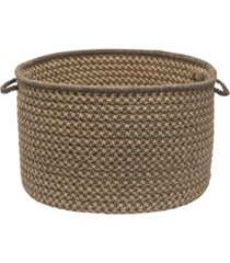 natural wool houndstooth braided basket