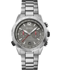 boss men's chronograph nomad stainless steel bracelet watch 44mm