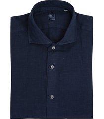 navy blue linen man shirt