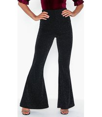 nly one glitter flare pant byxor