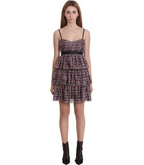 red valentino dress in black tech/synthetic