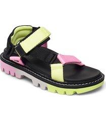color pop tommy jeans sandal shoes summer shoes flat sandals grön tommy hilfiger