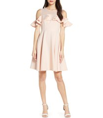 women's french connection alissa cold shoulder fit & flare dress