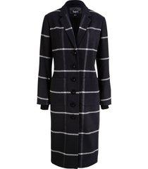 cappotto lungo a quadri con bordi a costine (nero) - bpc bonprix collection