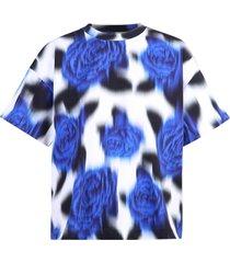losse t-shirt met rozen