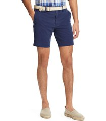 short hombre stretch straight fit azul polo