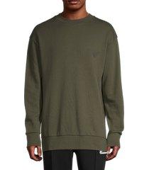 emporio armani men's logo sweatshirt - grey - size m