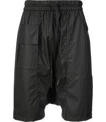 private stock drop-crotch drawstring shorts - black