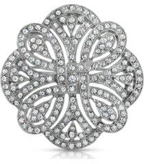 2028 pave crystal st. james club brooch