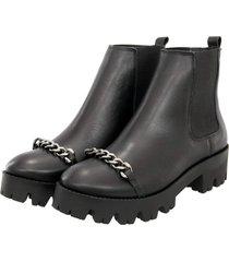bota coturno em couro ravy store preto