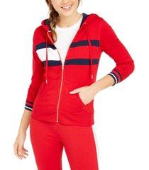 tommy hilfiger sport colorblocked zip hoodie