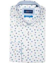 bos bright blue darwin shirt casual cut away 21107da39bo/500 multicolour