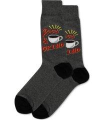 hot sox men's rise & grind crew socks