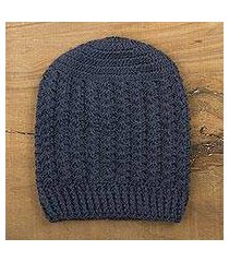 100% alpaca hat, 'blue stars align' (peru)