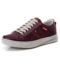 sapatênis tênis couro flay linha conforto ranster - 3020 vermelho