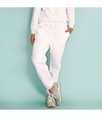 pantalón comfy tipo jogger, fluido, tiro alto color-blanco-talla-10