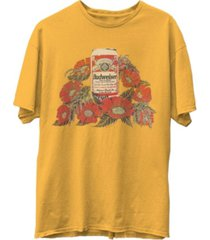 junk food bud can and flowers men's short sleeve t-shirt