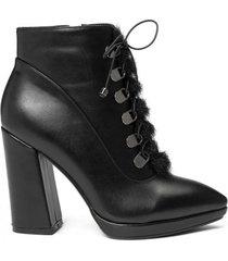 amaro feminino bota fake fur meia pata, preto