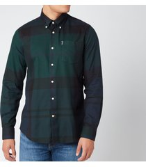 barbour men's dunoon shirt - black watch tartan - s