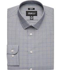 awearness kenneth cole blue windowpane slim fit dress shirt