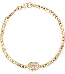 zoë chicco 14kt yellow gold emerald cut diamond bracelet