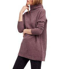 women's free people ottoman slouchy tunic, size x-large - purple