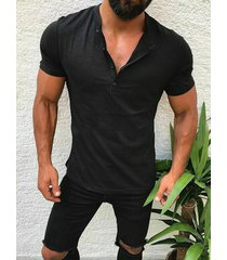incerun hombres camiseta redonda lisa cuello camiseta con dobladillo irregular barata y cómoda