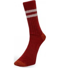 merz b. schwanen s75 dark red wool socks