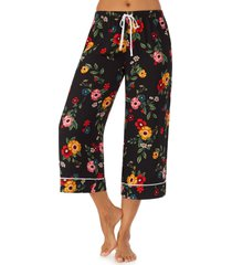 women's room service wide leg crop pajama pants, size xx-small - black (nordstrom exclusive)