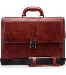 men's bosca leather double gusset briefcase -