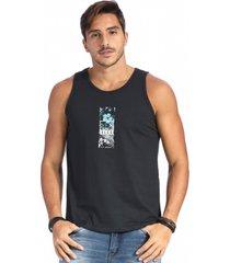 camiseta vlcs regata gola redonda preta - preto - masculino - algodã£o - dafiti