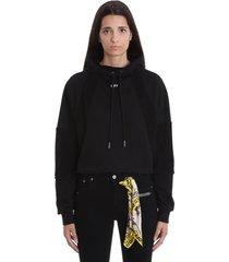 off-white intersia colleg sweatshirt in black cotton