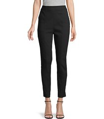 side-zip ankle-length pants