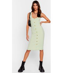 womens button-down to play ribbed midi dress - lime