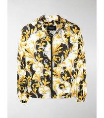 versace barocco acanthus drawstring-hood jacket
