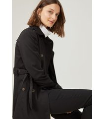 amaro feminino trench coat london breeze, preto