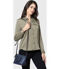 blusa nautica verde - calce regular