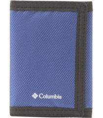 columbia men's rfid fabric sport trifold wallet with velcro closure