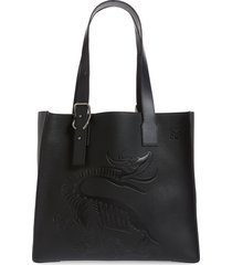 men's loewe dragon leather tote - black