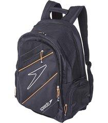 malas e mochilas speedo preto/laranja