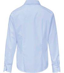 overhemdblouse met lange mouwen van eterna blauw