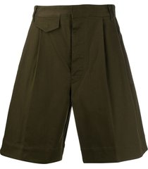 dsquared2 flared bermuda shorts - green